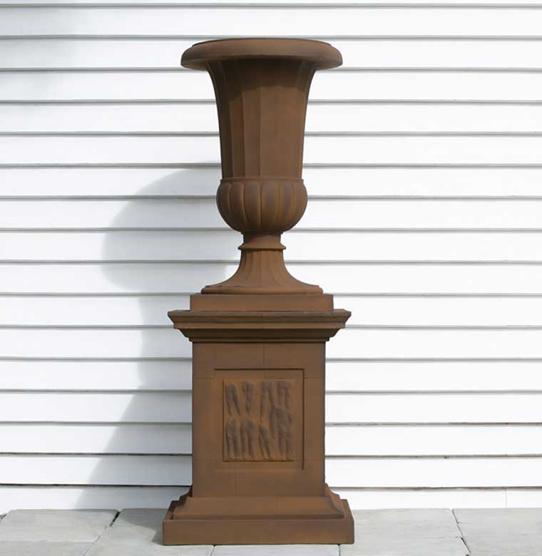 Outdoor Stoneware - Fluted Bell Urn