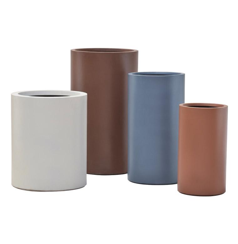 Pietro Stoneware Cylinder Planters