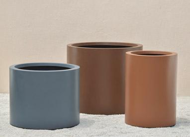 Pietro Stoneware Round Planter Set